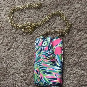 EUC Lilly Pulitzer ID and Phone Carry with Chain